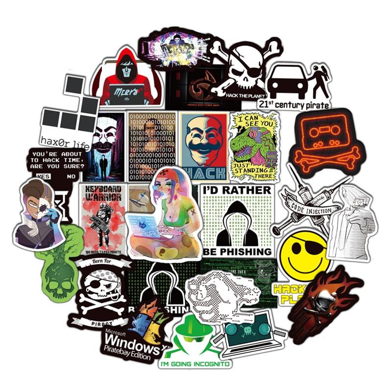 50pcs Programming Geek Hacker Developer Language JAVA Logo Series For Laptop Motorcycle Skateboard Waterproof DIY Stickers F3