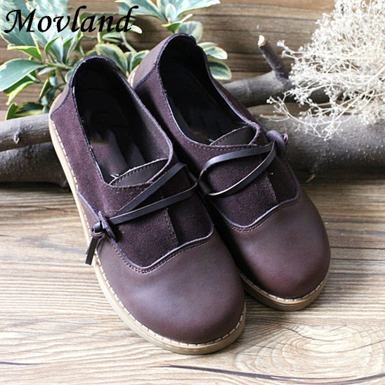 Hot sale,2017 new Mori girl cute doll head shoes retro big head shoe do old handmade shoes,Lovely lady Flats ,Khaki and coffee cute hot sale stripe design pantyhose for girl