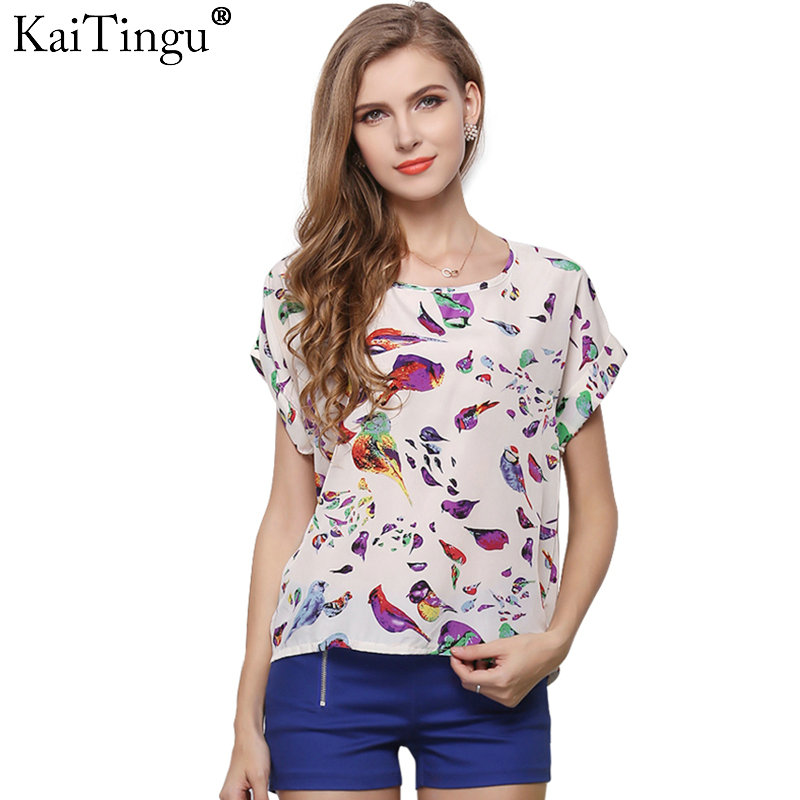 2017 Flügelhülse Frauen Blusen Kleidung Beiläufiges Chiffon-hemd Blusas Tops Herz Tier Streifen Leopardenmuster Muster
