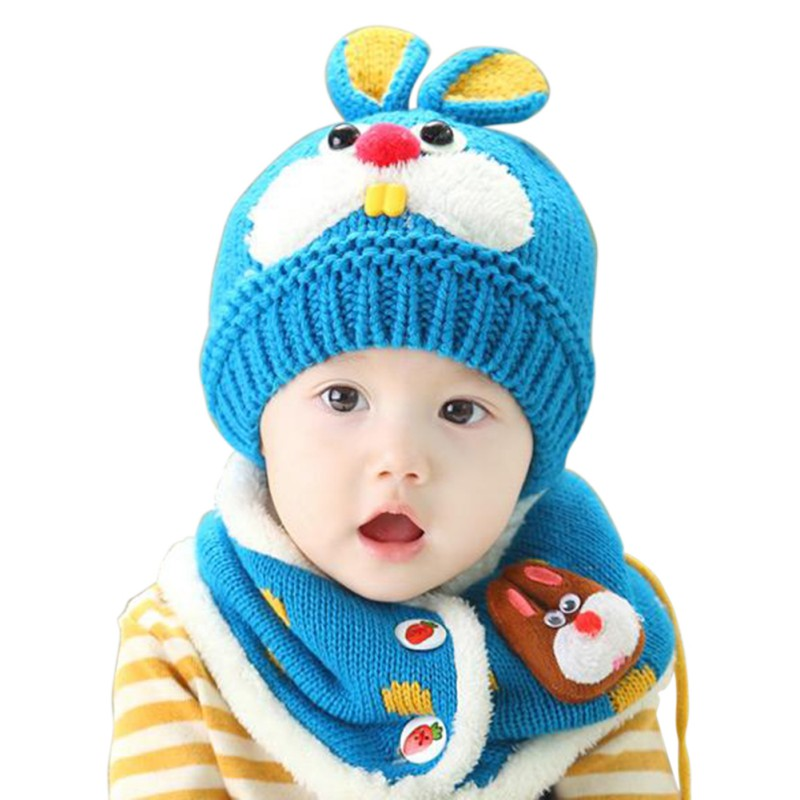 Winter Lovely Newborn Baby Hat Toddler Sweet Kids Boys Girls Beanie Cap Cats Ear Rabbit Crochet Knitted Hats