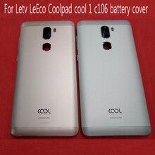 الأصلي المزدوج كاميرا 5.5 بوصة ل Letv LeEco Coolpad cool1 كول 1 c106 مبدل 1C البطارية الغطاء الخلفي الإسكان مع زر الصوت