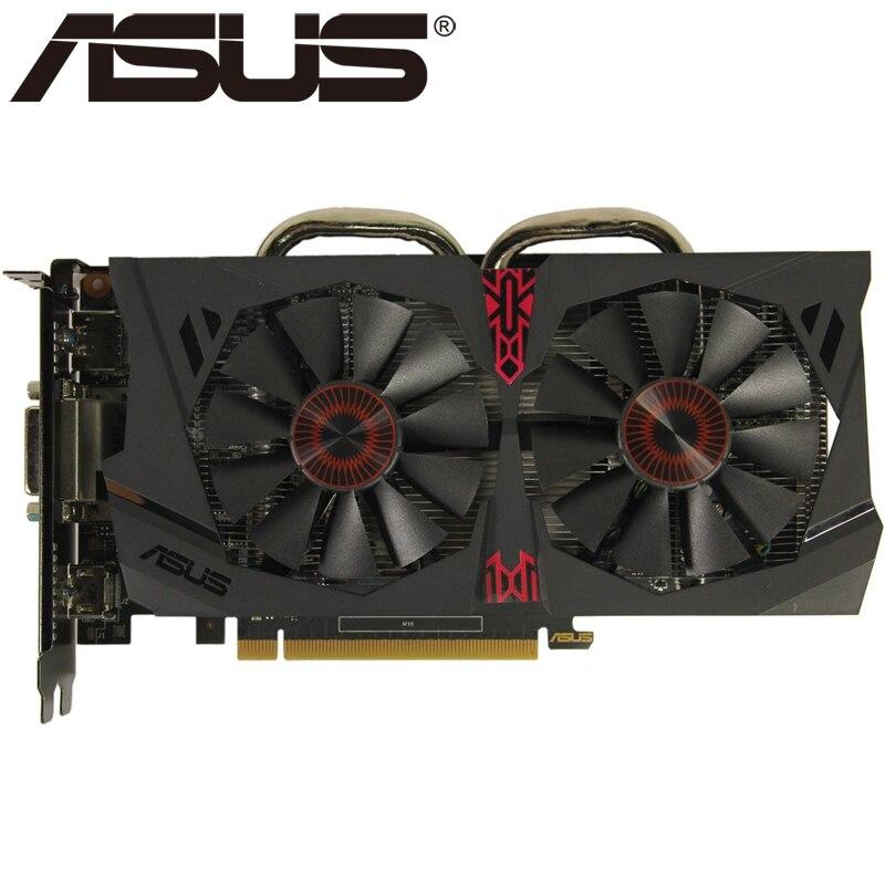 Видеокарта ASUS, оригинал GTX950, 2 ГБ 128 бит GDDR5 графические платы для nVIDIA, видеоадаптеры Geforce GTX 950, б/у, для игр 1050 750 TI-3