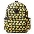 Nueva marca 2017 Mujeres de La Moda Mochilas de Lona Emoji Smiley Face Impresión Mochila Niños mochilas escolares para adolescentes S-2088