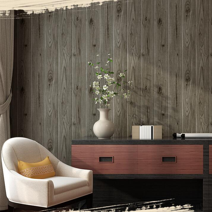 3D Chinese retro vintage wood grain wooden wallpaper roll Wood color living room bedroom background wallpaper junran america style vintage nostalgic wood grain photo pictures wallpaper in special words digit wallpaper for living room
