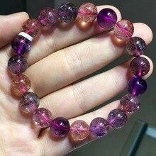 100% Natural Lepidocrocite Quartz 10.5mm Women Man Stretch Super 7 Seven Melody Stone Beads Bracelets Certificate AAAAAA