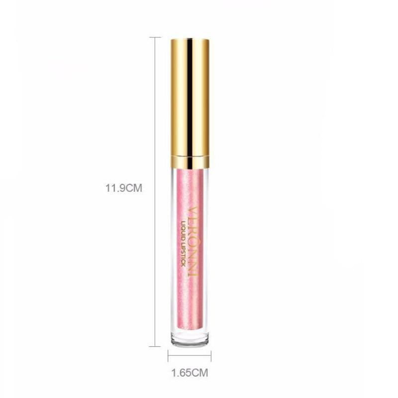 Diamond Lip Gloss Shimmer Shine Glitter Lipsticks Liquid Metalic Lipstick for Lips Lasting Makeup Cosmetics Lipstick