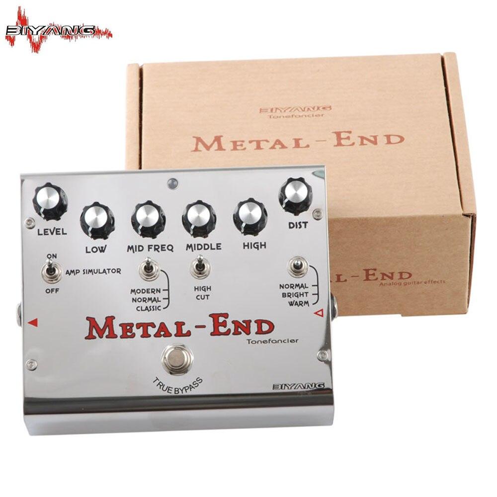 Biyang Tonefancier métal fin Pro 18 modes de distorsion guitare électrique effet pédale True dérivation nouveau 400 B - 6