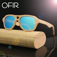OFIR 2017 Brand Fashion Sunglasses Products Men Women Bamboo Sun Glasses Polarized Lens Wooden Frame Handmade