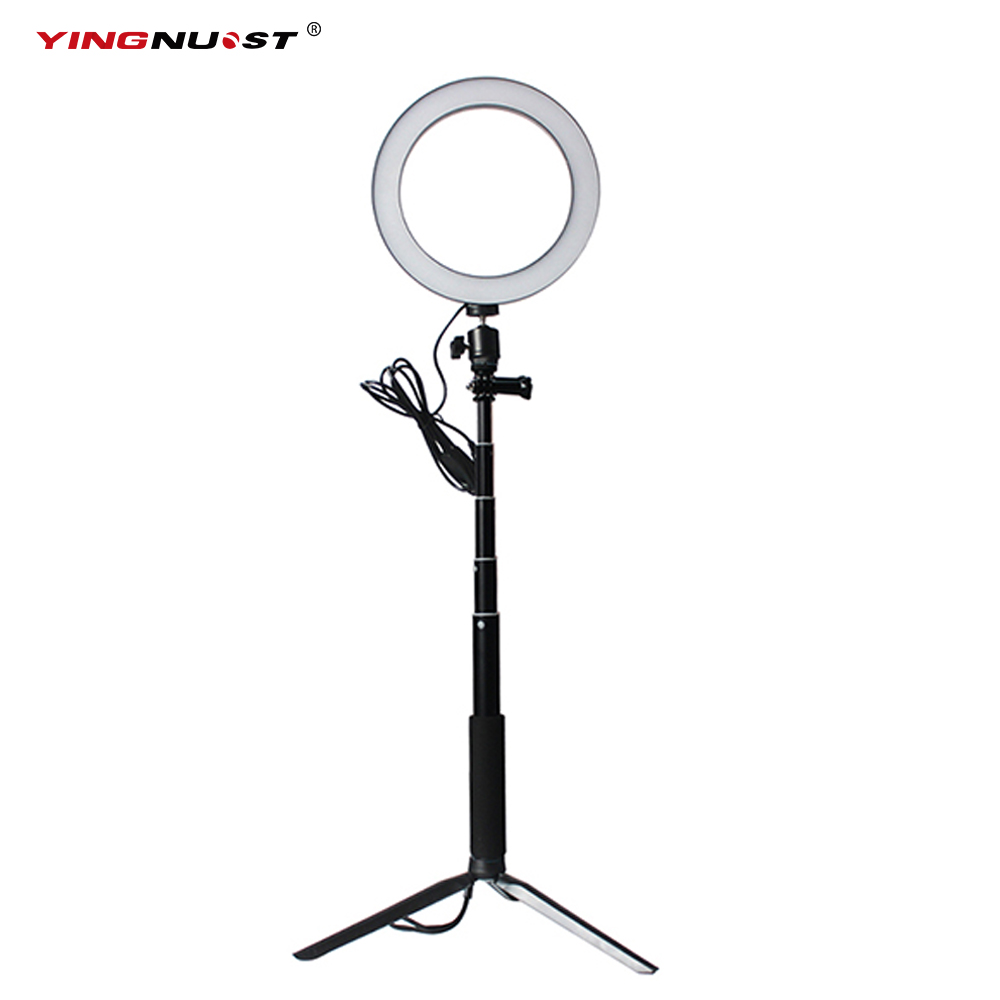 Selfie LED Ring Lamp Dimmable Phone Video Light With Selfie Stick Mini Tripod for Beauty Room Makeup YouTube Video Fill LightingSelfie LED Ring Lamp Dimmable Phone Video Light With Selfie Stick Mini Tripod for Beauty Room Makeup YouTube Video Fill Lighting