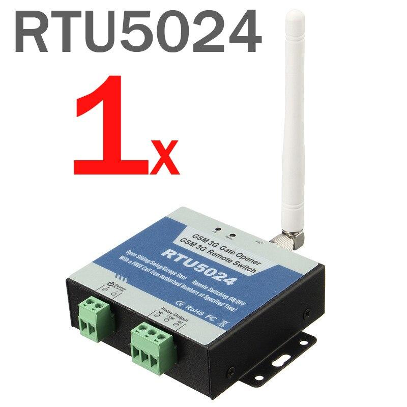 Envío gratuito RTU5024 GSM abridor de puerta interruptor de relé acceso remoto inalámbrico de Control deslizante abridor de puerta por llamada gratis App