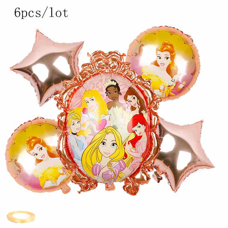 1 Set Ulang Tahun Elsa Anna Princess Balon Ulang Tahun Pesta Dekorasi Disney Princess Balon Set Kualitas Tinggi