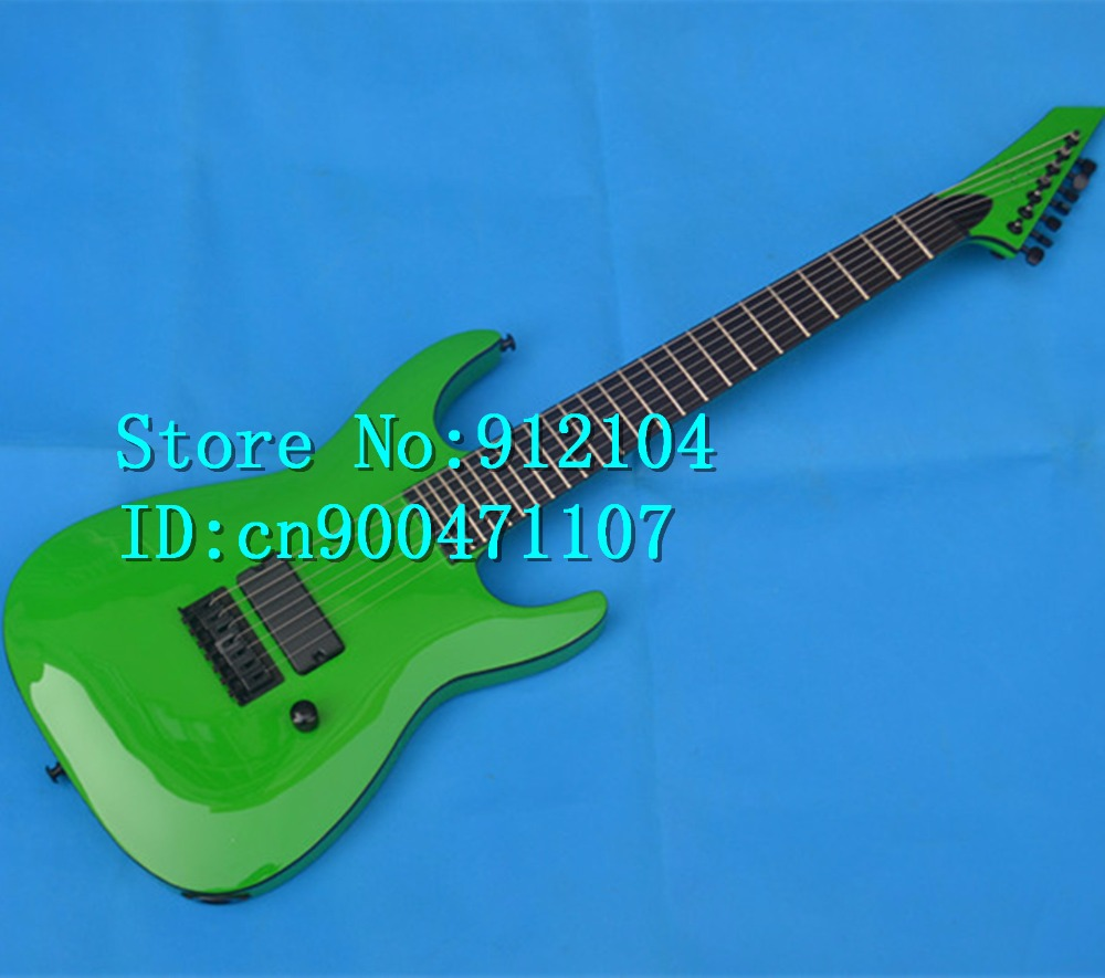 new Big John 7-strings electric guitar in green with black hardware and ebony fingerboard made in China + free shipping  F-3006 lucky john croco spoon big game mission 24гр 004