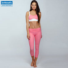 345019297c08 Pink Sexy Mesh Yoga Suits Women s Running Jumpsuit Solid Gym Top + Pants  Fitness Sports Training Jogging Leggings Bra Sets