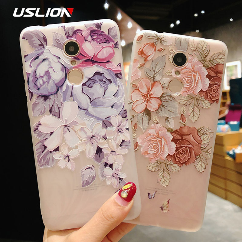 USLION <font><b>3D</b></font> Flower Phone Case For <font><b>Xiaomi</b></font> POCOPHONE F1 8 8 SE 6 6X Mix 2 <font><b>Redmi</b></font> 6 6 Pro 4X 5A 4 5 Plus Note 4 5 4X 5A Soft TPU Cover image