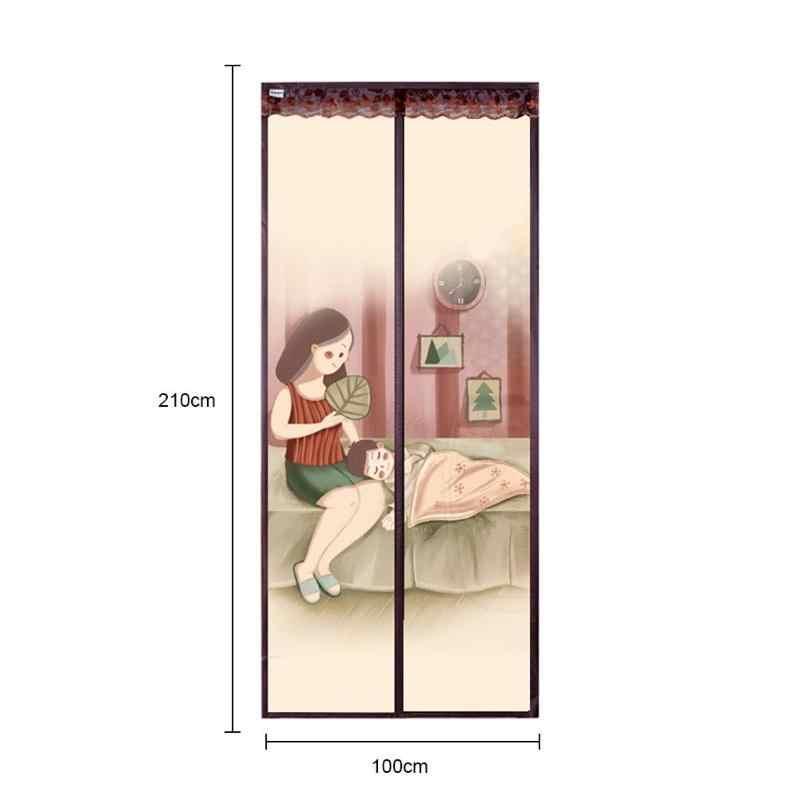 Musim Panas Magnetik Pintu Layar Tulle Jendela Tirai Anti Nyamuk Tirai untuk Rumah Dapur Kamar Mandi Ruang Tamu
