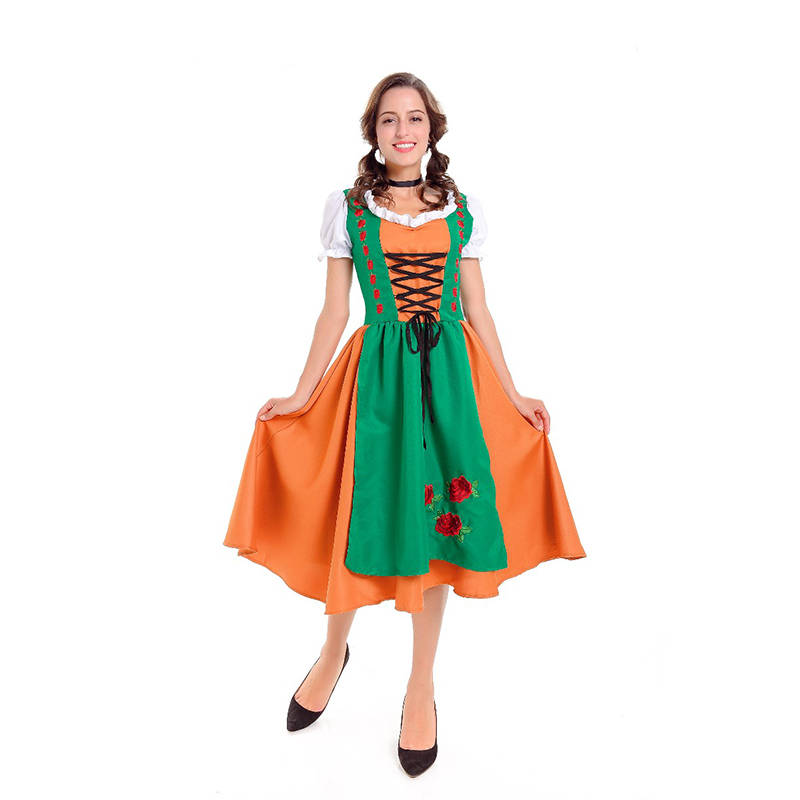 Men Oktoberfest Germanyl Dirndl Dress Women Costume 1