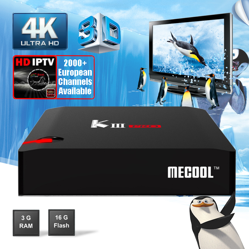 MECOOL K3 Pro 3G 16G DVB S2 T2 C Hybrid Smart TV Box Android 7.1 Dual Wifi Bluetooth V4.0 Set Top Box 4K HD Satellite Receiver антенна hite pro hybrid box