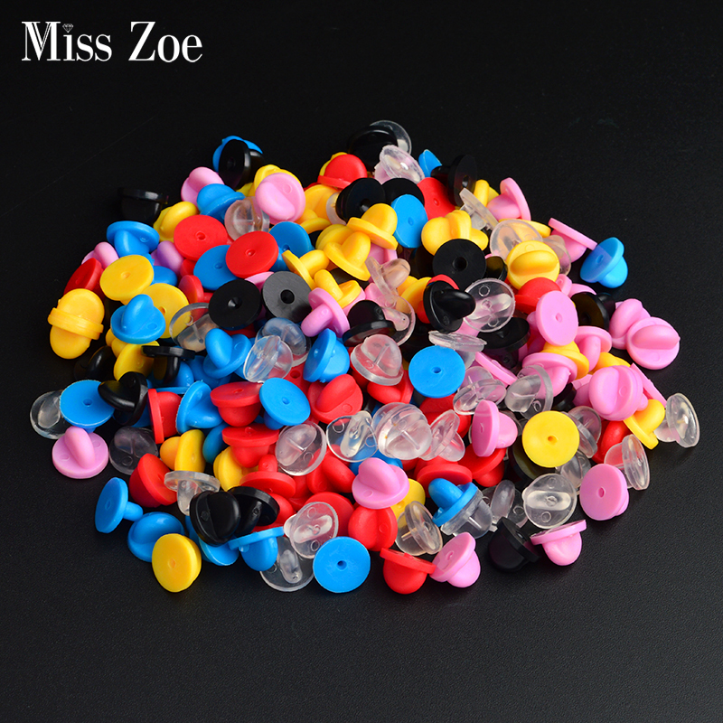 30pieces/lot Brooch Pin Buckle Metal Gold Silver Black Red Blue Pink Yellow Clasps For Pin Jewelry Accessories And Parts