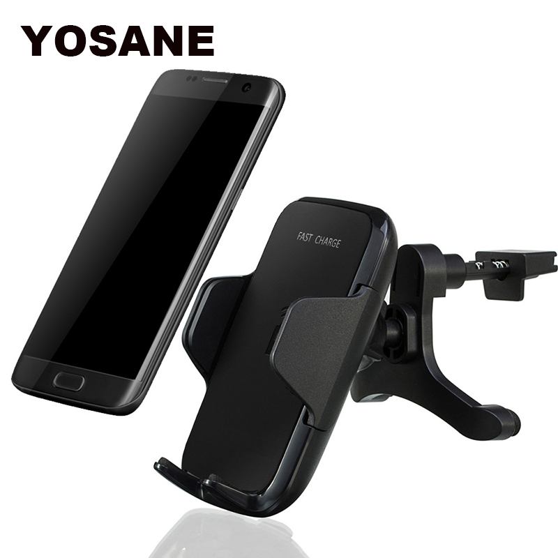 Multi-Funtion Qi Wireless Car Charger Phone Mount Holder Fast Charging For Nokia Lumia iPhone8 Plus nexus S4 S5 S6 S7