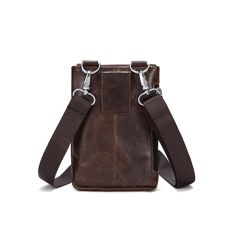 Hengsheng fashion small men shoulder bags with top quality genuine leather men messenger bag for casual male shoulder bag 5