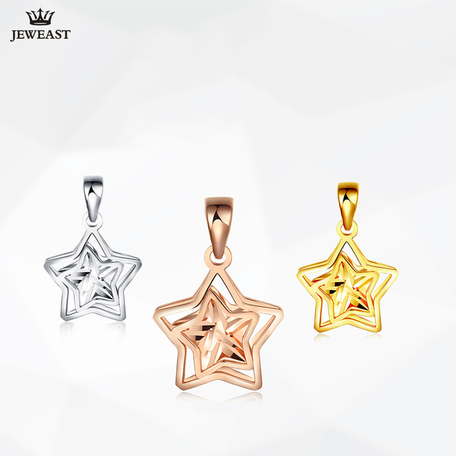18K Gold Star Pendant 1
