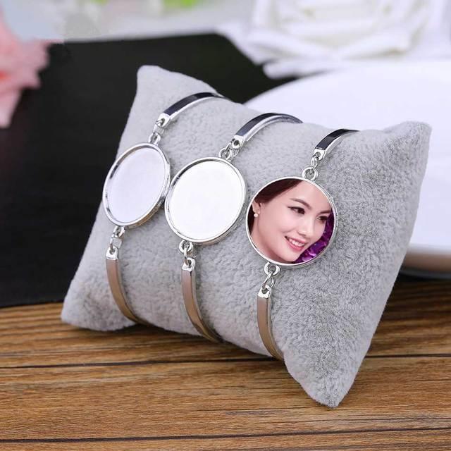 Sublimacji puste bransoletki dla kobiet moda hot druk transferowy bransoletka biżuteria diy materiały eksploatacyjne New arrival 20 sztuk/partia