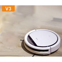 V3 100 240V Mini Robot Vacuum Cleaner for Home 20W Automatic Sweeping Dust Sterilize Smart Planned Mobile App 2600mah Battery