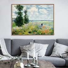 Aritist hand painted Modern Impressionism Monet Wild Poppy Field Sunrise Landscape Canvas Painting wall Art Painting home Decora selflessly wall impressionism monet wild poppy field sunrise landscape canvas painting art print poster picture painting