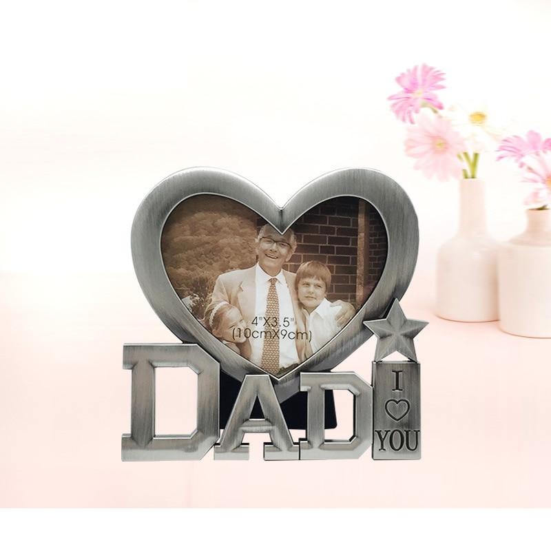 Nueva Forma linda del corazón Metal marcos para papá Lovely DIY ...