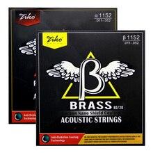ZIKO  Coating  Acousric Strings BRASS 80/20  / PHOSPHOR BRONZE   .011-.052 Carbon nano shield coating ghs strings bb10u bright bronze