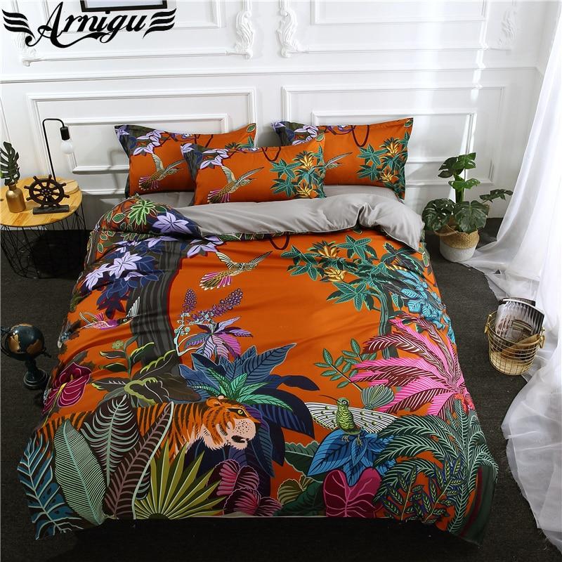 Arnigu New Style 3d Scenic Print Polyester Bedding Set