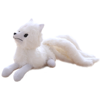 Soft White Fox Plush Toy
