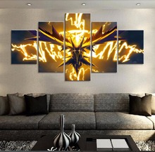 Pokemon Frame 5 Piece Modern Print Picture Poster on Canvas