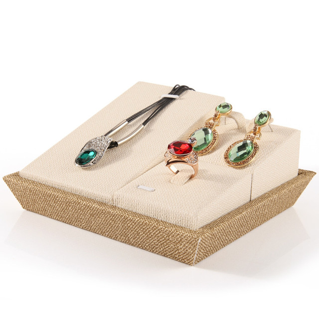 Linen Jewelry Display Holder Jewellery Display Combo Ring Earrings New Jewellry Display Stands