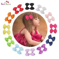 12 Cái/bộ Suri bows Bowknot Clip Tóc Cho Bé Gái Toddler Trẻ Em Polyester Grosgrain Băng Children cung tóc FS016-12