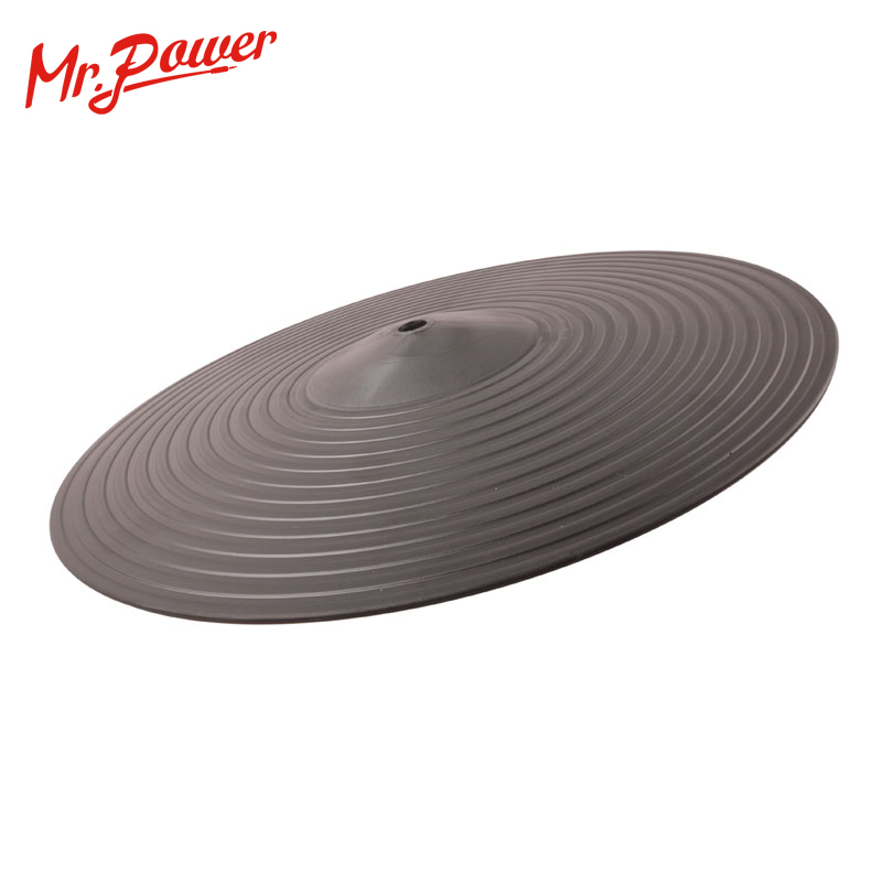 Practice Cymbals Drum Pads 12 Practice Silent Low Noise PC Plastic Crash Hi Hat Cymbals Pad NEW