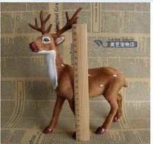 new simulation deer toy resin&fur deer home decoration gift about 24x18x8cm