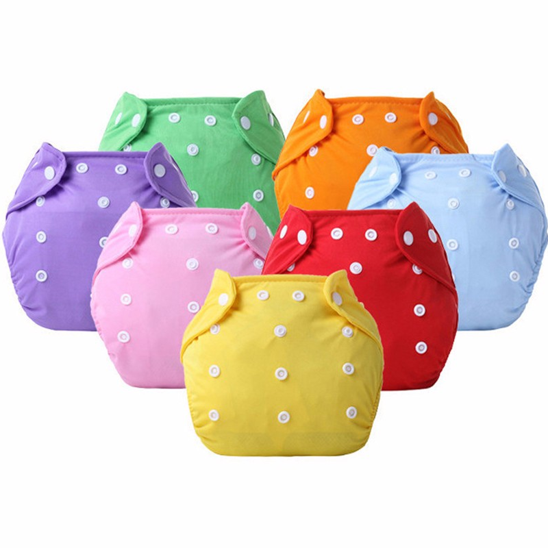 1PCS Reusable Baby Infant Nappy Cloth Washable Diapers Soft Covers Training Pant Cloth Adjustable Fraldas Winter Summer Version