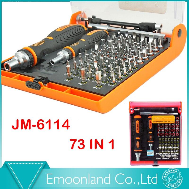 ФОТО Multi Bits JM-6114 with torx screw tools Screwdriver Set hex cross flat Y star multitool Screw driver for PC cellphone computer