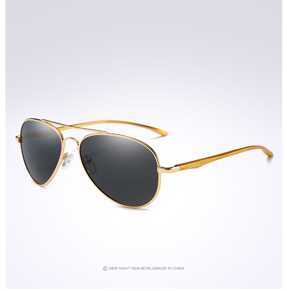 2017 Aviator Polarized Titanium Sunglasses For Men Brand ...