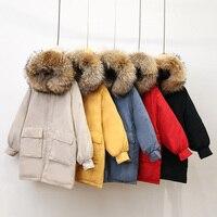 Parka Women's Winter Long Down Jacket women Casual Fur Collar Hooded Female Jacket Warm Thick Long Coat Women's Coat Plus Size