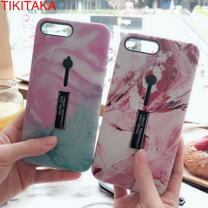 b56af769589110 New Hide Stand Holder Phone Case For iPhone 6S 6 Plus Fashion Marble Case  For iPhone 7 7 Plus 8 8 Plus X Coque With Finger Ring