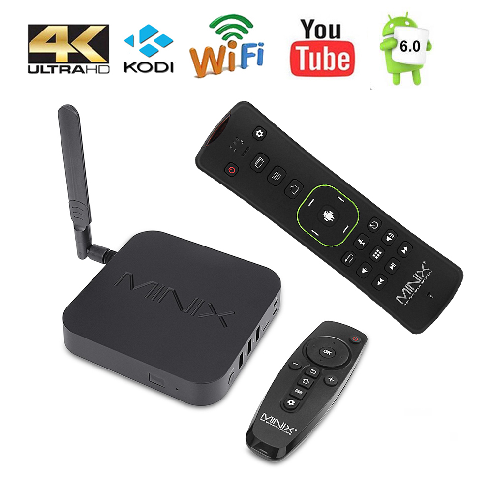 MINIX NEO U9-H + NEO A3 Smart TV BOX With Voice Input Air Mouse 64-bit Octa-Core Media Hub for Android 2GB 4K HDR Smart TV BOX