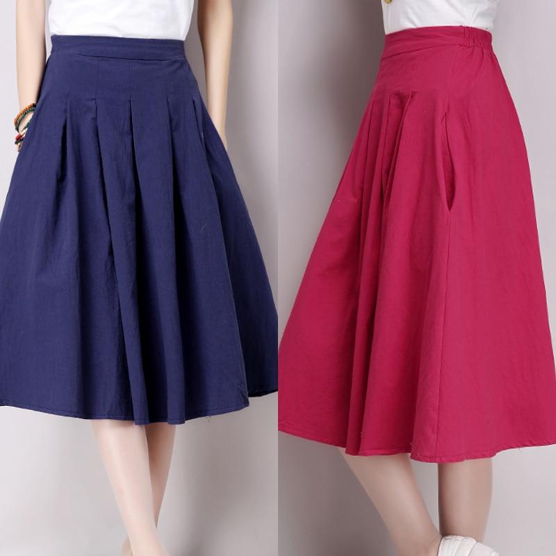 2017 derlius vasaros ilgio sijonas moterims naujo dizaino japonų - Moteriški drabužiai