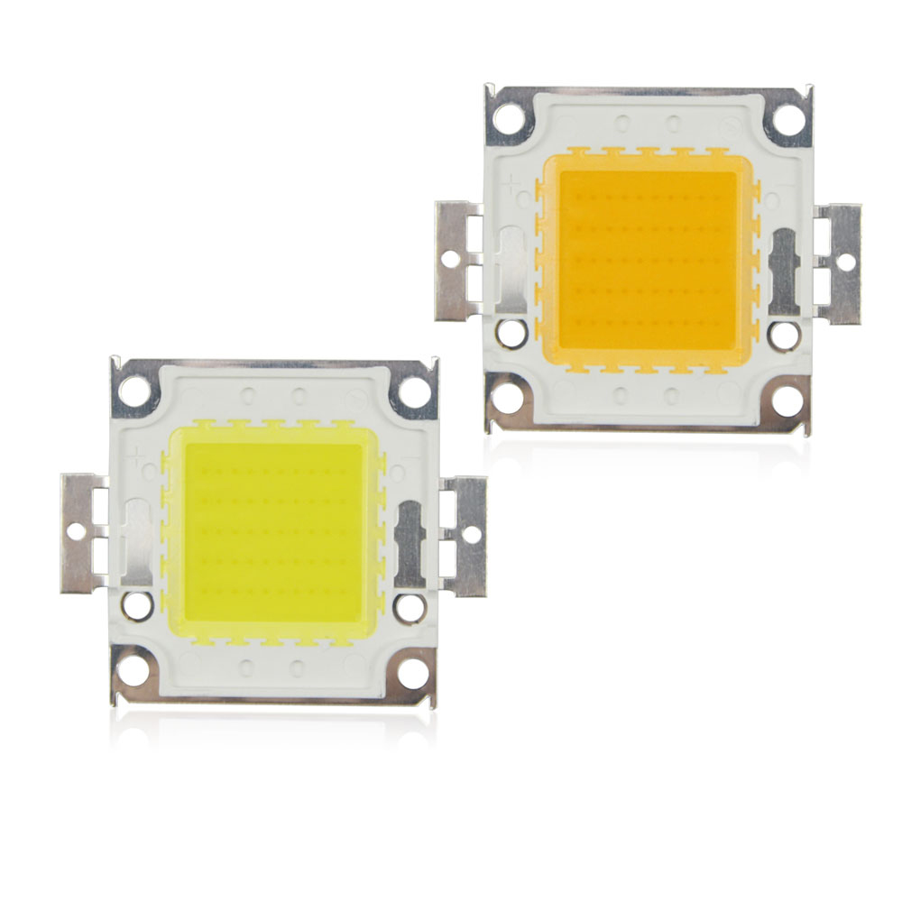 High Power Cob Led Chips 10w 20w 30w 50w 100w Dc10v 32v Integrated White Flood Lamp Circuit B2b Electronic Components 1pcs Smd Chip Bulb Warm