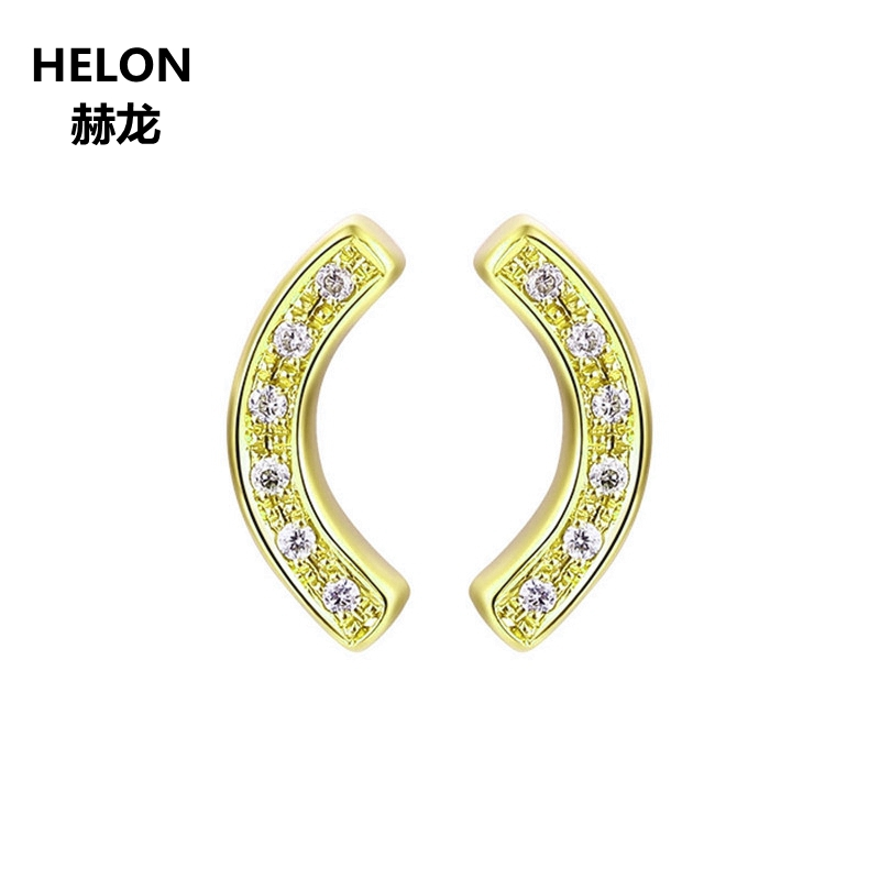 Unique Solid 14k Yellow Gold Earrings SI/H Single Cut Natural Diamonds Stud Earrings for Women Engagement Wedding Party Jewelry все цены