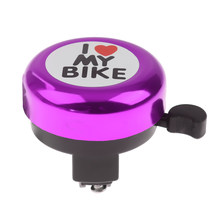 Universal Bike Bicycle Aluminium Alloy Bell Adult Children Cycling Bell Ring Sound Horn Purple MTB for Outdoor Bicycle Accessory(China)