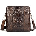 New style Alligator genuine leather small messenger bags for men crossbody bag cowhide men single shoulder bag male handbags