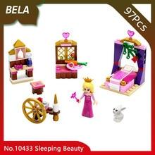 Bela 10433 97 pcs Série Amigos Bela Adormecida Quarto Real Modelo de Blocos de Construção Tijolos Brinquedos Para Meninas Presentes de Aniversário 41060