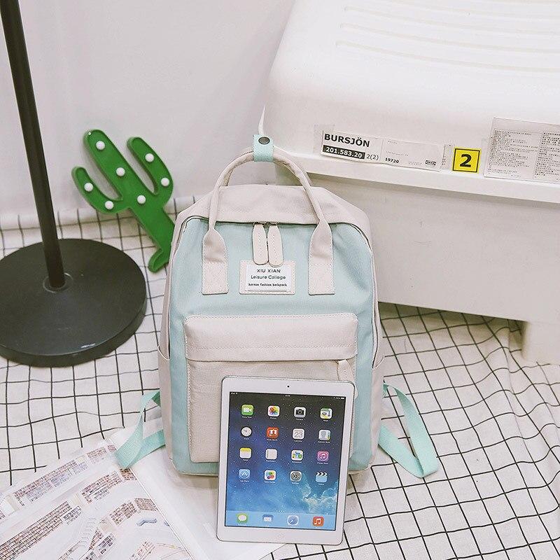 Brand Womens School Backpack Waterproof Feminine Travel Backpack School Bags 14 Notebook Backpacks for Teenager Girls xy-132